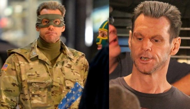 Jim Carrey durante el rodaje de Kick-Ass 2