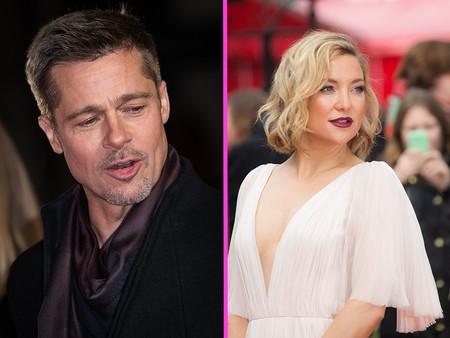 Brad Pitt hecho un pimpollo de nuevo: ni gota de alcohol y Kate Hudson, los responsables
