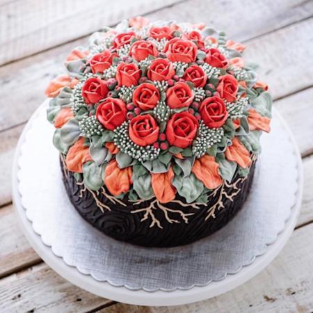 Parecen preciosos bouquets o terrarios, pero en realidad son los pasteles más increíbles que hemos visto en Instagram