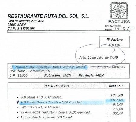 El Ayuntamiento de Jaén ahogaba la crisis en el alcohol: 468 copas a la salud de las arcas municipales