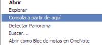 Truco: Añade la consola de comandos al menú de botón derecho en Windows