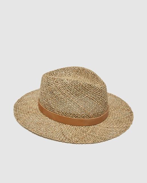 Sombrero de hombre de la colección Black agujeritos natural