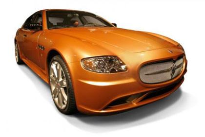 Un Maserati Quattroporte de oro
