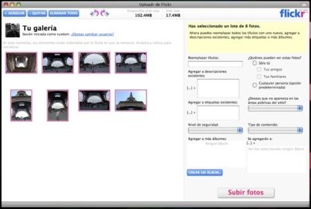 Flickr Uploader se actualiza a la versión 3.1.3
