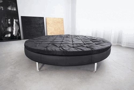 Originalidad en el dormitorio: una cama redonda