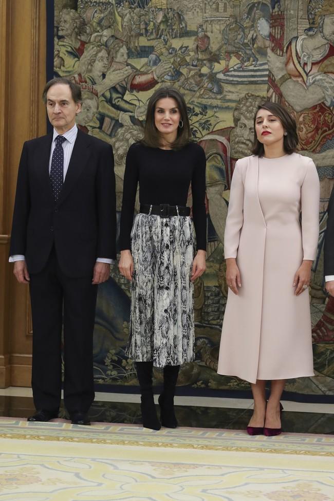 La falda con print de serpiente de doña Letizia de Zara está agotada: siete modelos para copiar su look