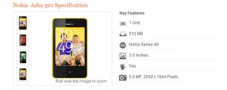 Nokia Asha 501 se deja ver antes de tiempo