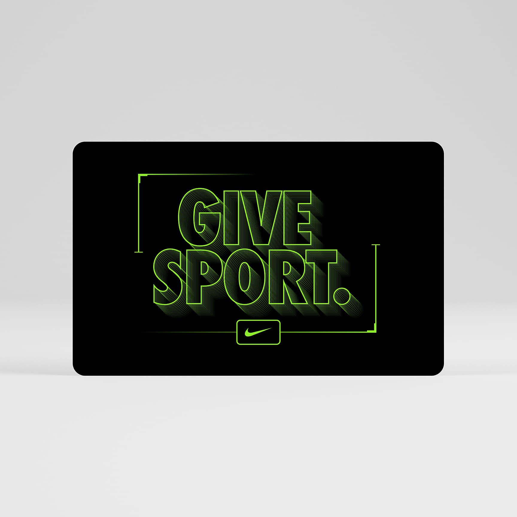 Tarjeta regalo de Nike