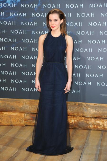 Emma Watson con vestido de Wes Gordon en la premiere de Noah en Berlin