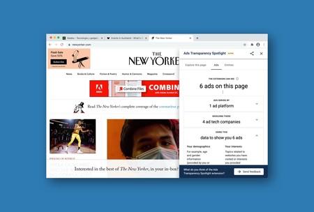 Chrome ahora se chiva de qué anuncios hay en cada web, la información que recopilan y a qué compañías la envían