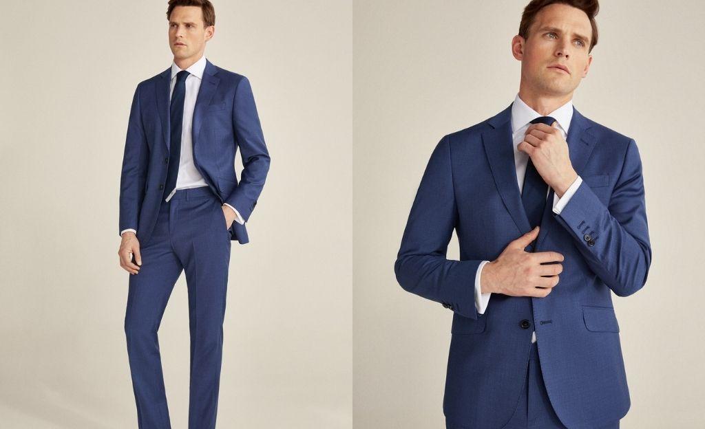 Americana azul grisáceo slim fit
