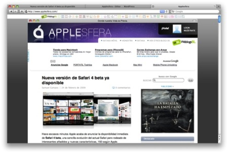Nueva versión de Safari 4 beta ya disponible