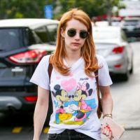 Emma Roberts fan de las camisetas de Disney, ¡copia su look!