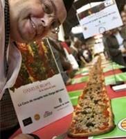 La coca de recapte en Barcelona Degusta, la más grande del mundo