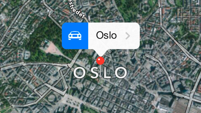 Oslo en los Mapas de Apple
