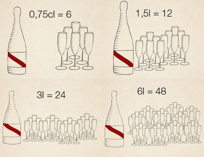 Protocolo champán - tamaño