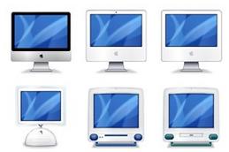 La evolución del iMac en iconos