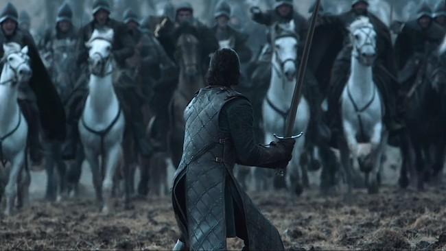 Juego de Tronos Jon Snow lucha de los bastardos