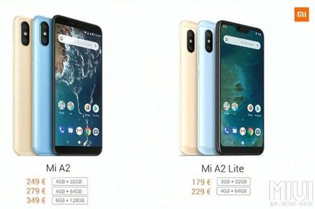Xiaomi Mi A2 Mi A2 Lite Precio