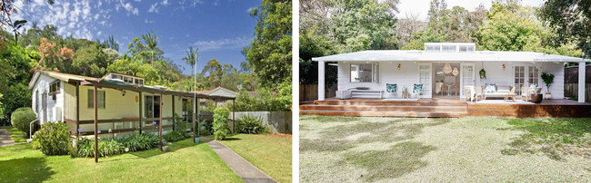 Antes y después: la transformación de una viejuna casa de los años 70 por una vivienda vacacional adorable