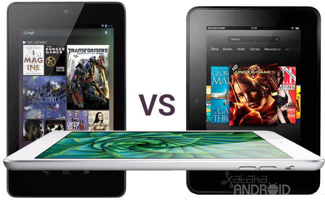iPad Mini vs Kindle Fire HD vs Nexus 7