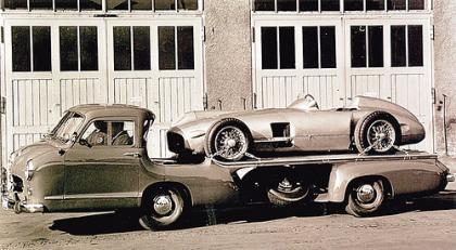 Mercedes Rennabteilung. Transporte rápido de F1 versión años 50