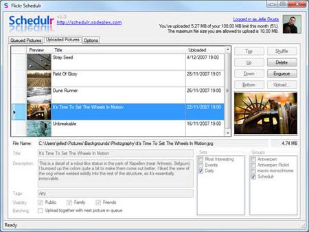 Flickr Schedulr, para programar las publicaciones de nuestras fotos