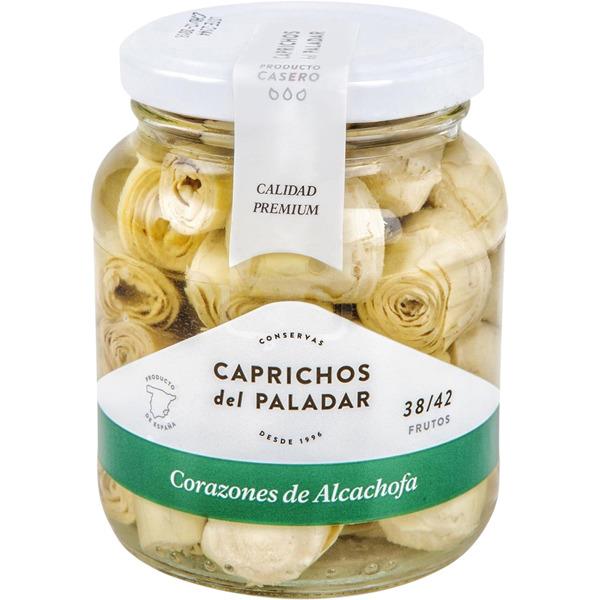 Corazones de alcachofas Caprichos del Paladar, 38-42 frutos tarro 350 g.