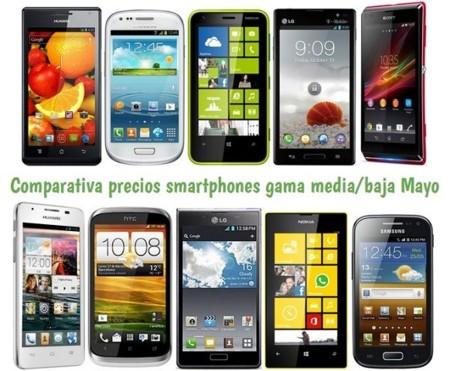 Comparativa Precios Smartphones más baratos Mayo 2013