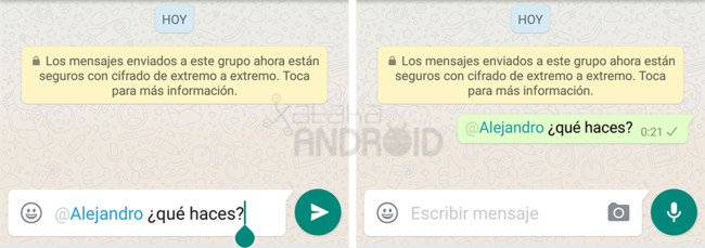 Whatsapp Mencionar
