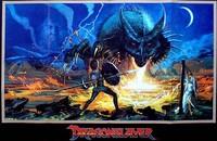 El dragón del lago de fuego