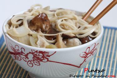 Sopa de noodles y shiitakes. Receta