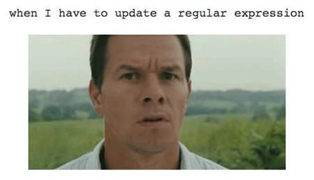 Cuando tengo que actualizar una expresión regular