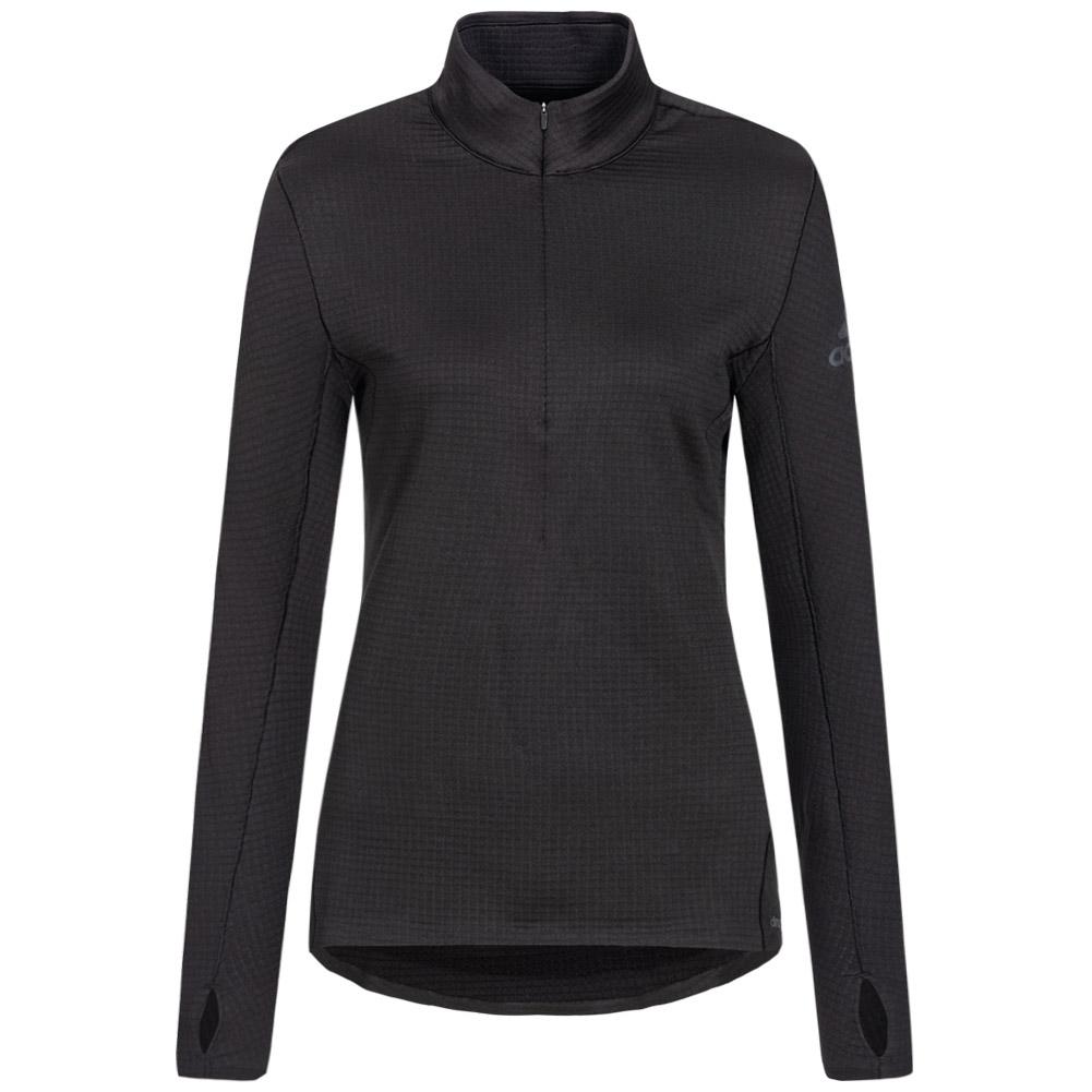 Camisa de running adidas Climaheat 1/2 Zip Tee para mujer AX8591