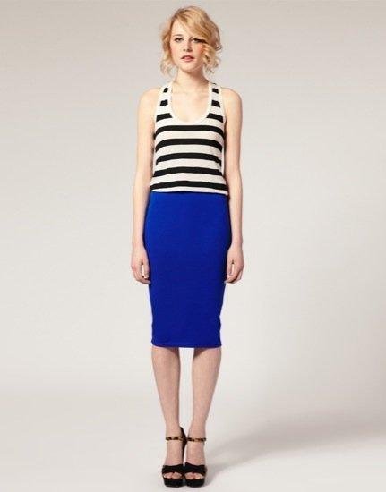 Asos falda azul