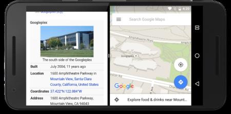 Así es la pantalla dividida de Android N