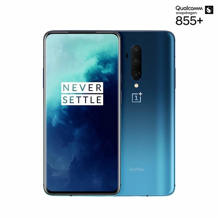 "OnePlus 7T Pro, Pantalla AMOLED de 90Hz, 8GB RAM + 256GB de Almacenamiento, Triple Cámara + Pop-Up Cámara, Warp Charge 30T, Bluetooth, Android, 16.9"", Haze Blue"