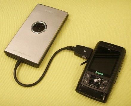 Batería de combustible para los móviles