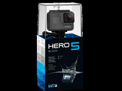 Cámara GoPro Hero 5 Black por 334,79 euros con una MicroSD de 32GB de regalo