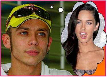 Valentino Rossi sueña con Megan Fox