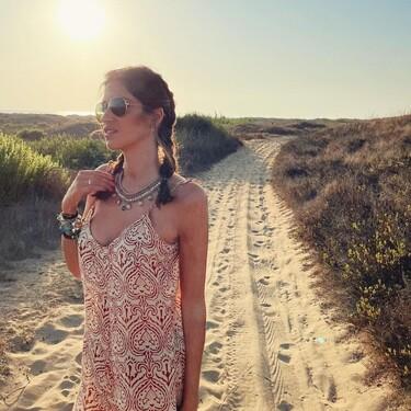 Las trenzas de Sara Carbonero son el peinado perfecto para un día de verano y playa