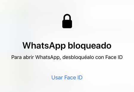 WhatsApp bloqueado Face ID Touch ID