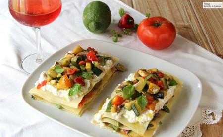 Receta de lasaña de verduras sin horno, la mejor lasaña para disfrutar en verano