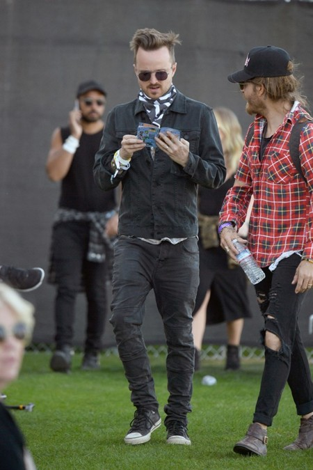 Aaron Paul Coachella Weekend Streetstyle