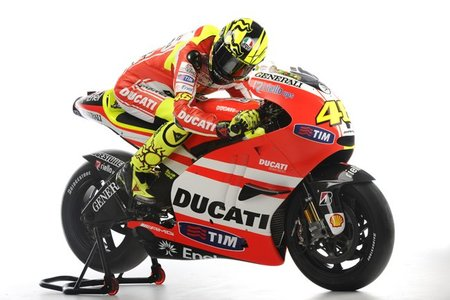 Rossi sobre su Ducati