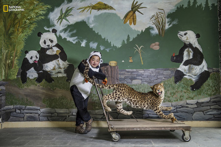 Panda Keeper Stuffed Leopard