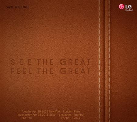 LG tiene listo su próximo evento, G4 apunta a ser el protagonista