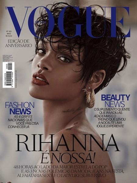 ¿Esa de allí es Rihanna? Sí, y todo gracias a Vogue Brazil