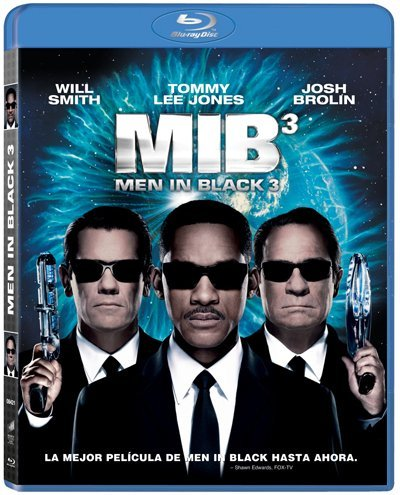 La portada del Blu-ray de Men In Black 3