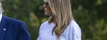 Ni blusas ni vestidazos: la clave del éxito de Melania Trump está en una sencilla camiseta de algodón